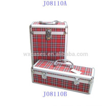 new style 2 bottles aluminum wine box with PVC leather skinmanufacturer high quality