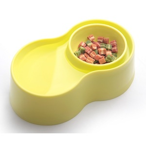 Anti-Ant Plastic Pet Bowl - สีเหลือง