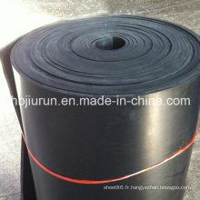Revêtement de sol en caoutchouc NR noir imperméable à vendre