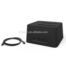 USB 3.0 Type C Dual HDD Smart Docking station.High speed(5Gbps)docking station