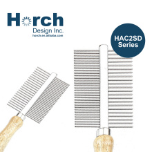 Metal Comb Wooden Handle Pet Grooming Stainless Steel Lice Comb Hair Cleaning Dematting