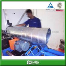 Spiral round HVAC duct forming machine