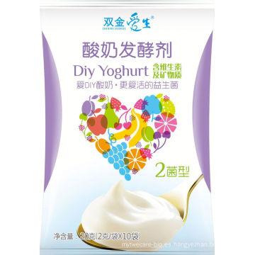 Yogur de leche entera sano probiótico