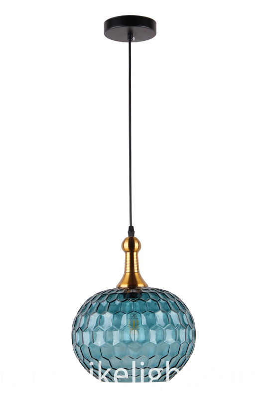 Glass Blue Lamp