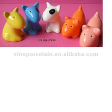 animal ceramic salt and pepper dispenser for dog BS120726A