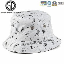 2016 Fashion Cap Casual Breathable Cotton Bucket Hat with Printed