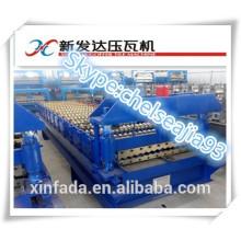Automatic 850 Metal Roofing Corrugated Tile Roll Forming Machine Rolamento de folha de aço colorido fazendo linha