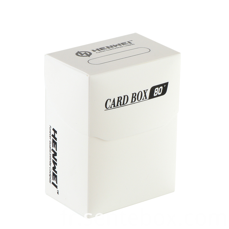 Plastic 80 Pcs Capacity cards protecting Cards Box
