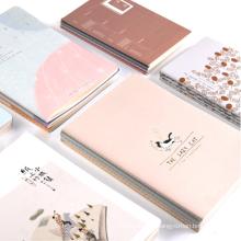 Cheap custom Plain Craft Paper Blank Page Diary Thin Customizable logo pattern Journals Notebooks