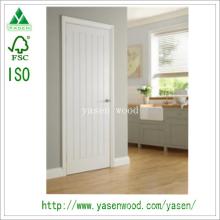 Porta de madeira Composite Prime V-Groove White Prancha