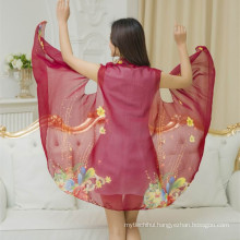 2017latest style cloth variety 100% polyester chiffon cardigan shawl scarf