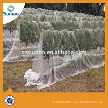 New style white anti-hail net with new hdpe for apple tree