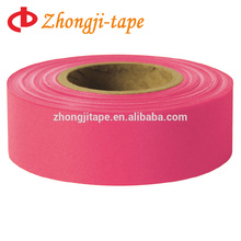 """1"""" * 200' rose red trail marking tape"""