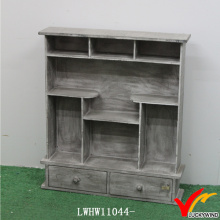 Corner Vintage Antigo armários de cozinha de madeira Spice Racks