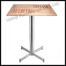 Square Outdoor Aluminium Slat Wood Table (SP-AT334)