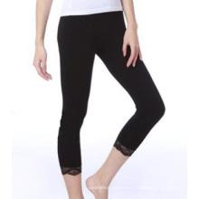 Seamless Black Capri Leggings Tights Girls Lace Panties