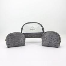 Manufacturer Wholesale Waterproof Travel Set Makeup Transparent PVC Cosmetic Bag Set 3