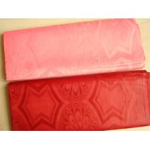 Tissu africain GHALILA jacquard dur handfeel polyester 5 yards / sac bazin riche damassé