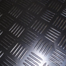 Black Checker Plate Anti-Slip Rubber Matting