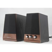 neue 2.0 Classic Wooden PC-Lautsprecher