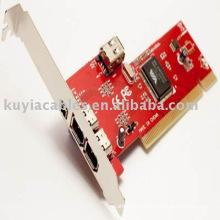 4 portas Firewire IEEE 4/6 Pin adaptador VIA Chipset firewire 1394a pci cartão para DC DV para PC