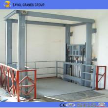 China Ce ISO Tipo de carril hidráulico Elevación de mercancías Elevación de carga