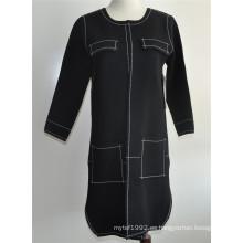 Ladies Open Cardigan abrigo de punto de punto
