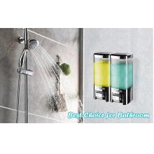 Press Type Double Shower and Shampoo Dispenser V-8102 500ml*2