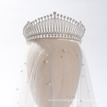 New Elegant Crystal Rhinestone Women Royal Pageant Prom Headpiece crown Bridal Wedding Tiaras Crowns