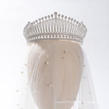 Новый элегантный женский королевский головной убор со стразами со стразами, корона, свадебные диадемы, короны