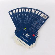 Hot vente usine personnalisé étiquette de vêtements en-tête papier carte papier