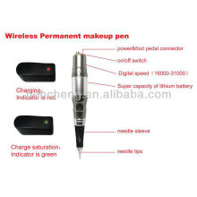 Maquina digital de maquillaje permanente inalámbrica y pluma de tatuaje de maquillaje barato y de alta calidad
