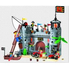 Série Pirates Designer Fort Rob Barrack 366PCS Brinquedos de bloco
