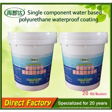 Einkomponenten-wasserbasiertes Polyurethan, das flüssige Gummibeschichtung imprägniert