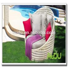 Audu silla de salón al aire libre cama de sol de mimbre cama de sol playa redonda