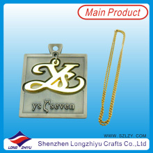 Military Dog Tag Gold Plating and Antique Silver Dog Tag