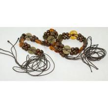 Fashion Hand made garment cotton waxed cord braided belts-KL0054