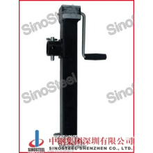 5000 Lbs Square Sidewind Base Trailer Jacks with Fixed Leg