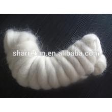 Super Qualität Mohair Wolle Tops Weiß