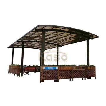 Aluminiumpolykarbonat Car Shed Carport Roof Design