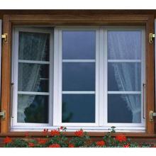 Внешнее створчатое окно из ПВХ с ручным открывателем