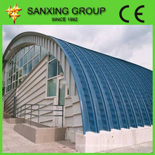SX Steel Arch Roof Roll Forming Machine 0.8 - 1.5mm Thickness,arch style buiding machine /roofing sheet bending machine
