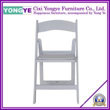 Cadeira Dobrável de Resina Branca com Almofada Removível
