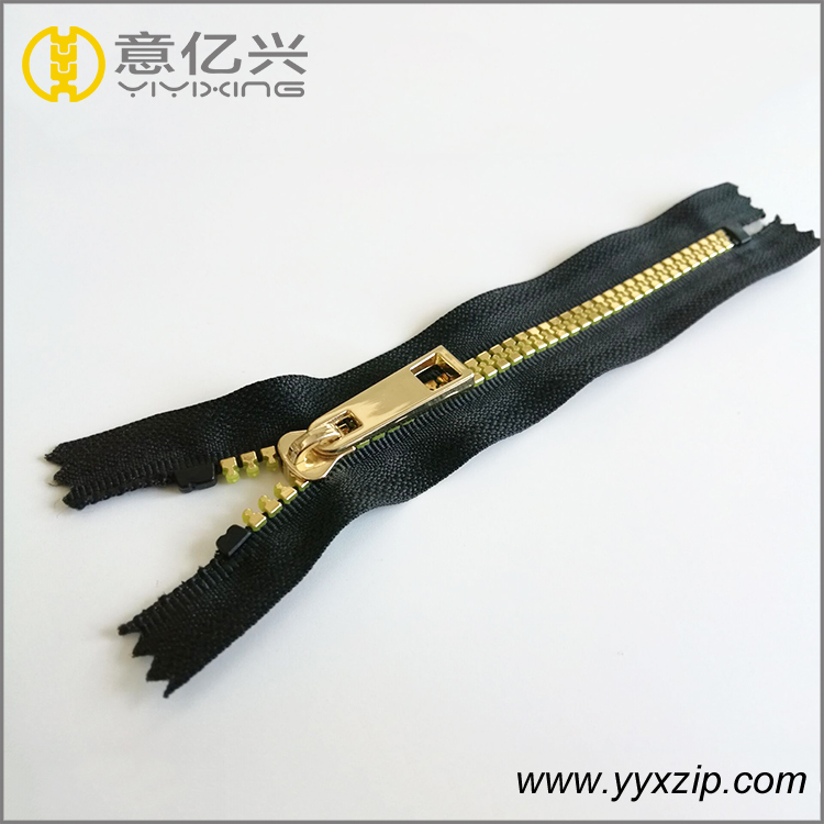Gold Coated Teeth Zipper