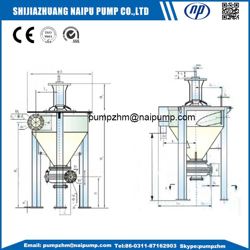 13 vertical slurry pump outline drawing