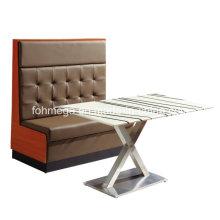 China Großhandel Leder Cafe Stand mit Tisch (FOH-CBCK16)