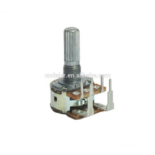 WH148-1AK-5 Reverse type high power b500k rotary dual gang potentiometer