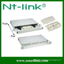 Painel de conexão de fibra ST 24 portas