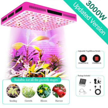 Lâmpada fluorescente LED Phlizon 3000W Full Spectrum COB