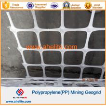 Polipropileno PP Mina de minería Geogrel con polímero retardante de llama